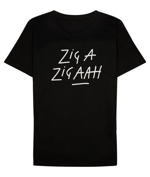 Zig A Zig Aah Black T-Shirt Front