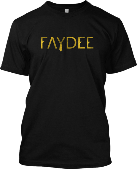 Faydee Black T-Shirt Front
