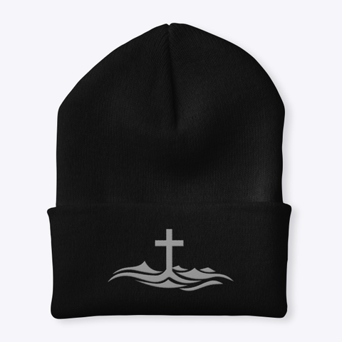 Above Inspiration Beanie Black Hat Front