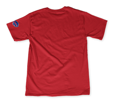 Goo Goo Dolls X Buffalo Bills: My Team My City Bright Red T-Shirt Back