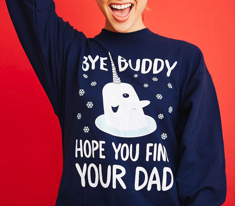 Bye Buddy   Limited Edition Navy  Sweater Back