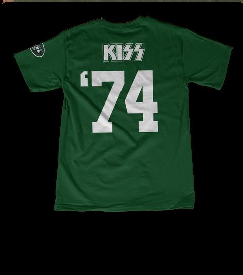 Kiss '74 Forest Green T-Shirt Back