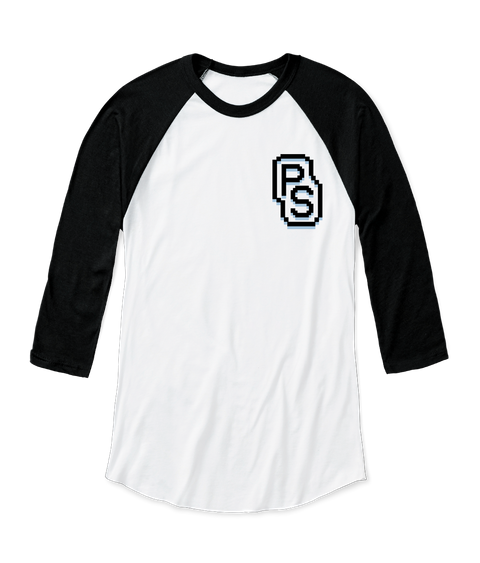 Ps White/Black  Long Sleeve T-Shirt Front