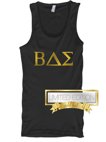 Bae Limited Edition Gold Foil  Tank Top Front