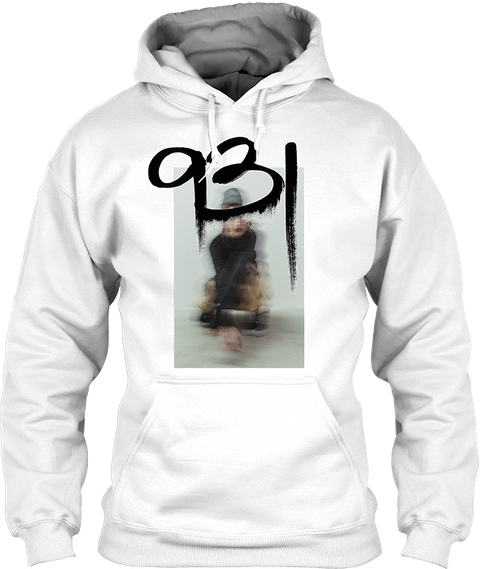7 Color Screen Print Please See Production Team For Artwork White Sweatshirt Front