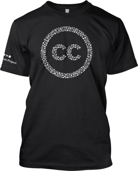 Cc X In Project  Black Camiseta Front