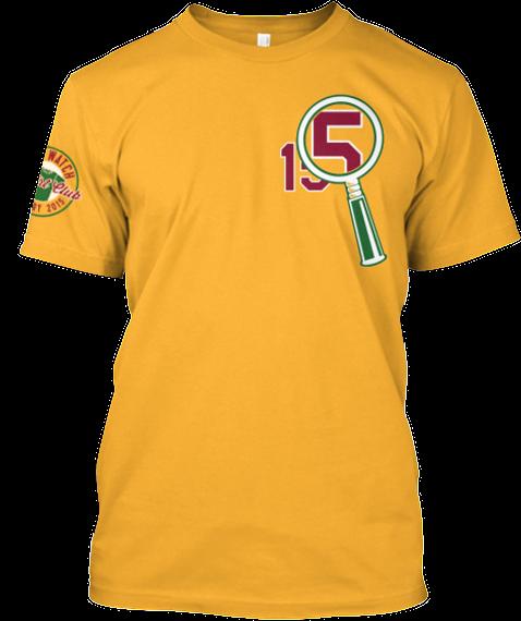 15 Batting Practice 15 Gold T-Shirt Front