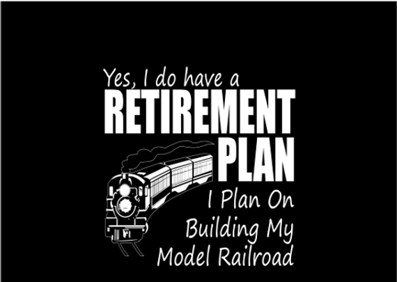 Yes, I Do Have A Retirement Plan I Plan On Buildings My Model Railroad  Sticker Front