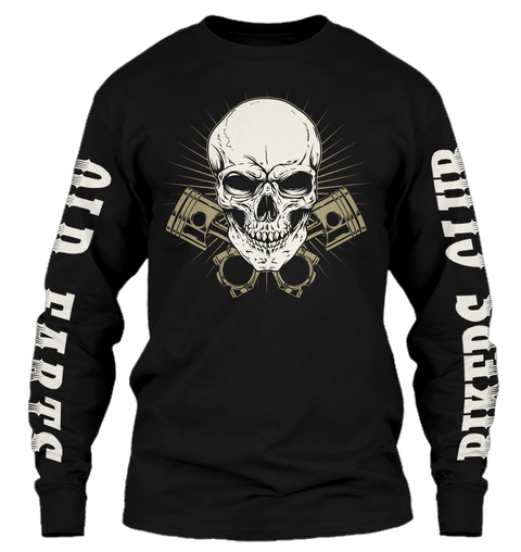 Are You An Old Fart...?   Ls Black Long Sleeve T-Shirt Front