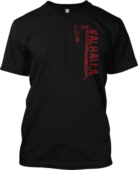 American Viking Black T-Shirt Front
