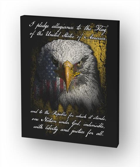 Pledge Of Allegiance Canvas White T-Shirt Front