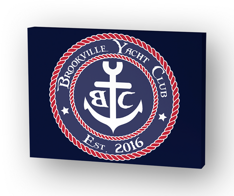 Brookville Yacht Club Canvas Standard Camiseta Front
