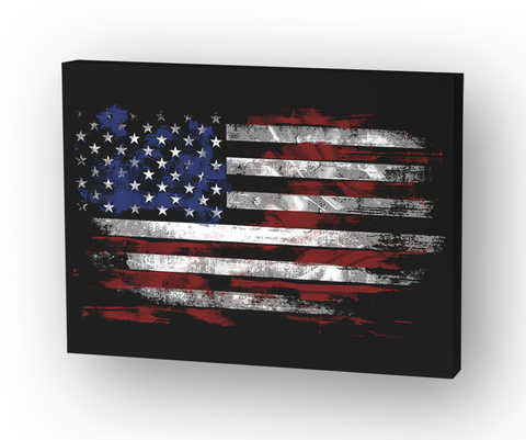 American Flag Canvas Standard T-Shirt Front