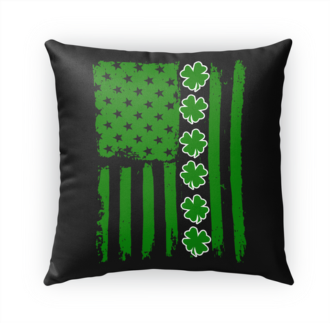 Patricks Irish American Flag Shamrock Standard T-Shirt Front