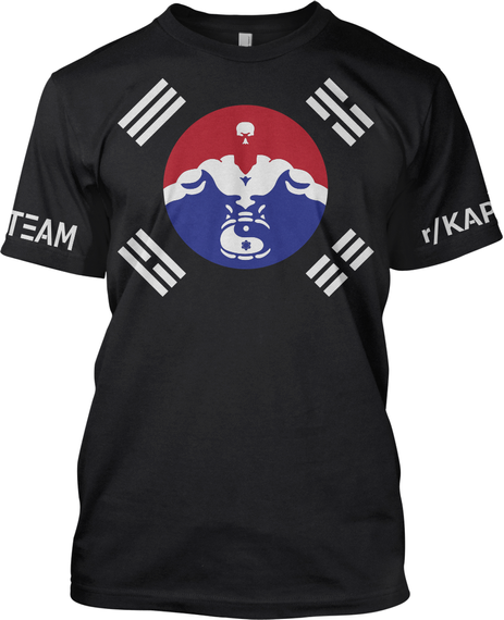Team R/Kap Ppa K Te Black T-Shirt Front