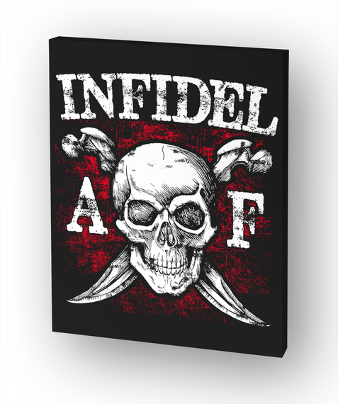 Infidel A F White T-Shirt Front