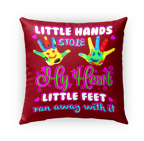 Little Hands Stole My Heart Little Feet Ran Away With It Standard T-Shirt Front