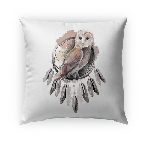 Owl Dream Catch Pillow Standard Maglietta Front