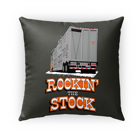 Bull Hauler Rockin' Stock Pillow White T-Shirt Front