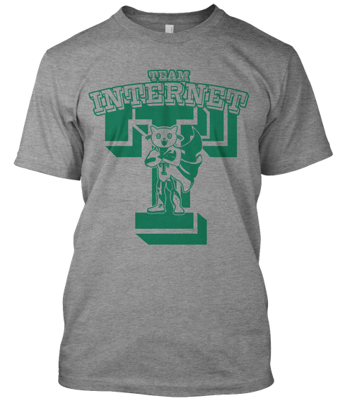 Team Internet Super Hero Cat T-Shirt!