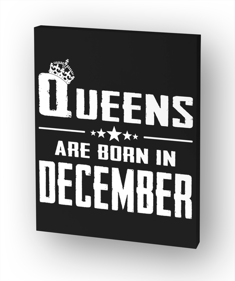 Queens Are Born In December White áo T-Shirt Front