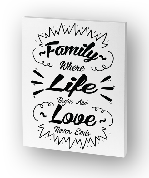 Family For Canvas Standard T-Shirt Front