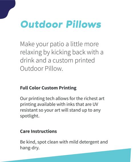 """Catcher Word Art Outdoor Pillow 18"""" White T-Shirt Back"""
