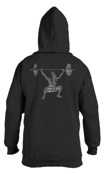 Snatch Clean & Jerk Snatch Black T-Shirt Back