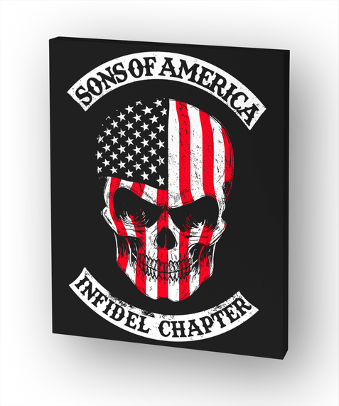 Sons Of America   Infidel Chapter White T-Shirt Front