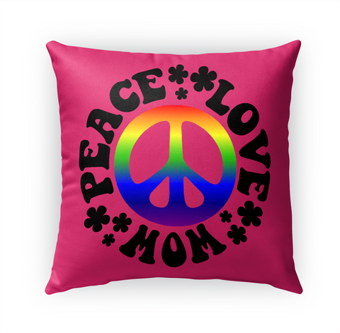 Peace Love Mom Standard Camiseta Front