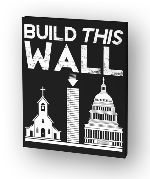 """Build This Wall Canvas Print   24""""X30"""" White T-Shirt Front"""