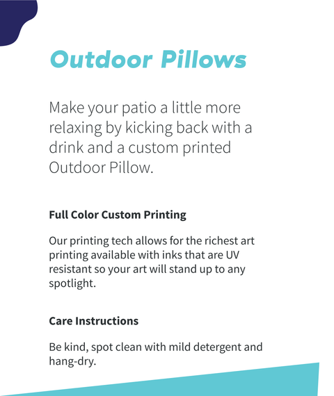 Outdoor Pillows Make Your Patio A Little More Relaxing By Kicking Back With A Drink And A Custom Printed Outdoor Pillow. White T-Shirt Back