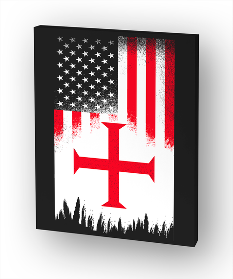 American Crusader   Limited Edition White T-Shirt Front