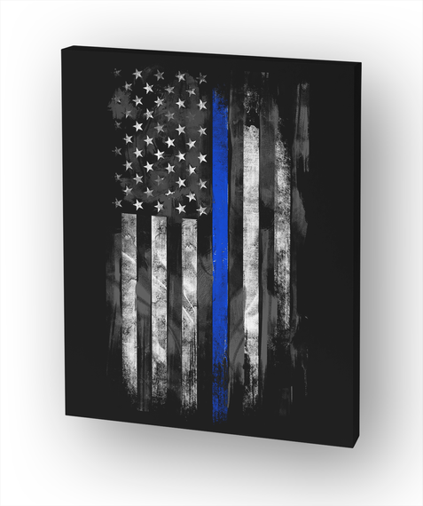 Thin Blue Line Flag White T-Shirt Front