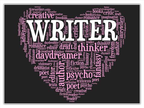 Creative Writer Storytellers Romance Editor Daydreamer Author Fantasy Fiction Psycho Poet White T-Shirt Front