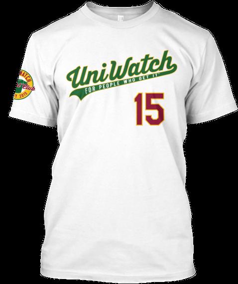 Uni Watch T Shirt Club   Home Design White T-Shirt Front
