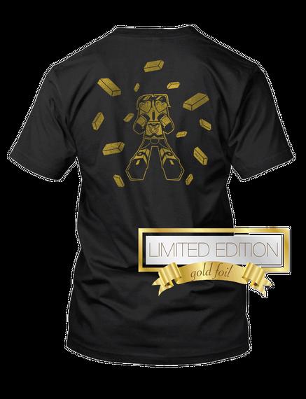 Sky Does Minecraft Budder Explosion!  Black T-Shirt Back