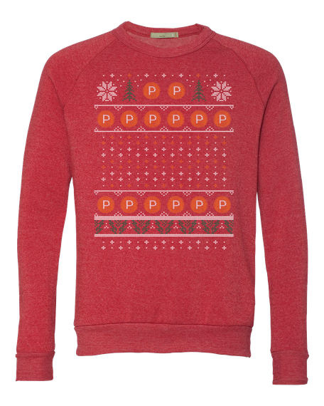 Product Hunt Ugly Holiday Sweater Eco Red T-Shirt Front
