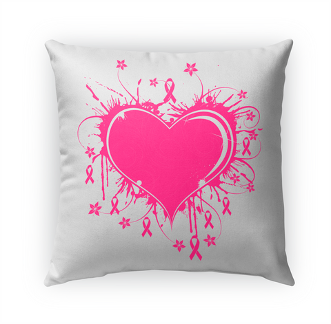 Pink Heart And Ribbons Pillow Standard Camiseta Front