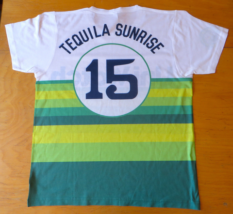 Tequila Sunrise White T-Shirt Back