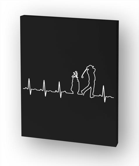 Golf Heartbeat   Ltd. Edition White T-Shirt Front