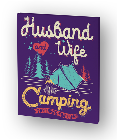 Husband And Wife Camping Partners For Life White T-Shirt Front