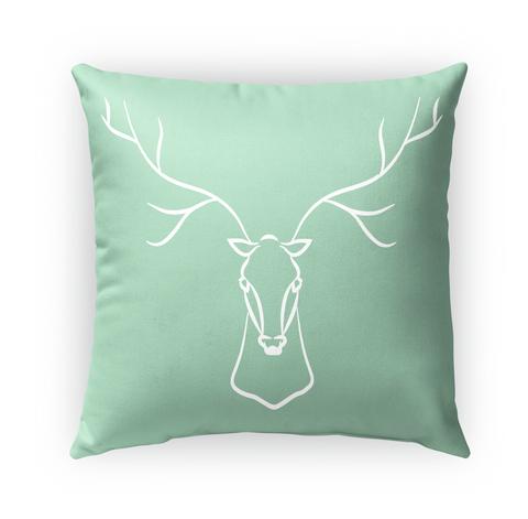 Mint And White Deer Pillow Standard T-Shirt Front