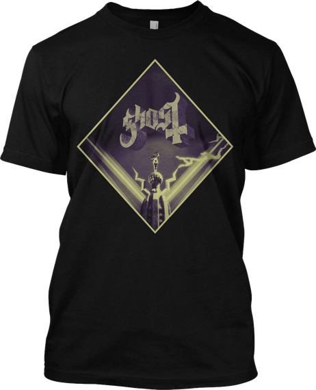 Ghost  Black T-Shirt Front