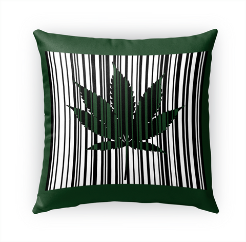 Cannabis, Weed Leaf Pillow, Green Standard T-Shirt Front