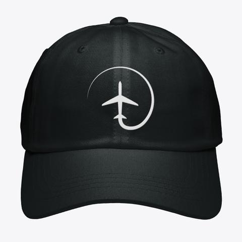 Awesome Mentour Aviation Cap! Black T-Shirt Front
