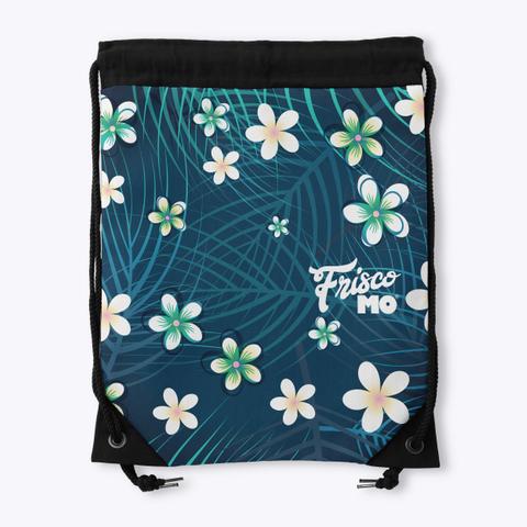 Plumeria Palms Drawstring Bag Standard T-Shirt Back