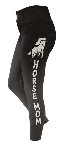 Horse Mom  Custom Legging Camiseta Back