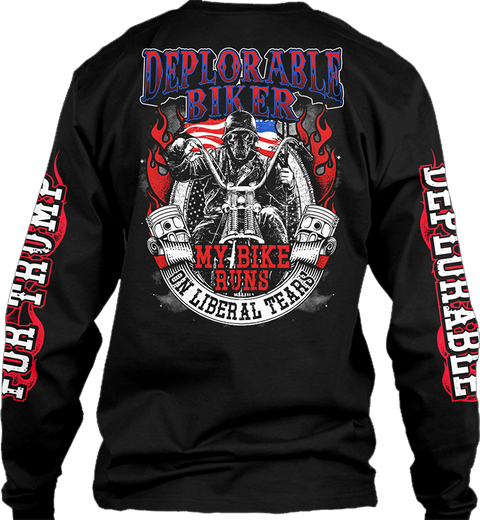 Deplorable Biker Black T-Shirt Back