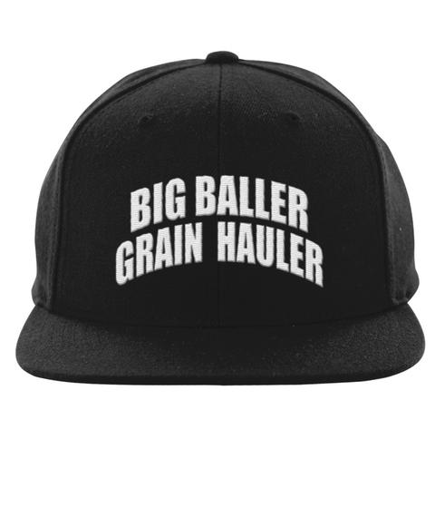 Truck Driver Grain Hauler Hat  Black T-Shirt Front